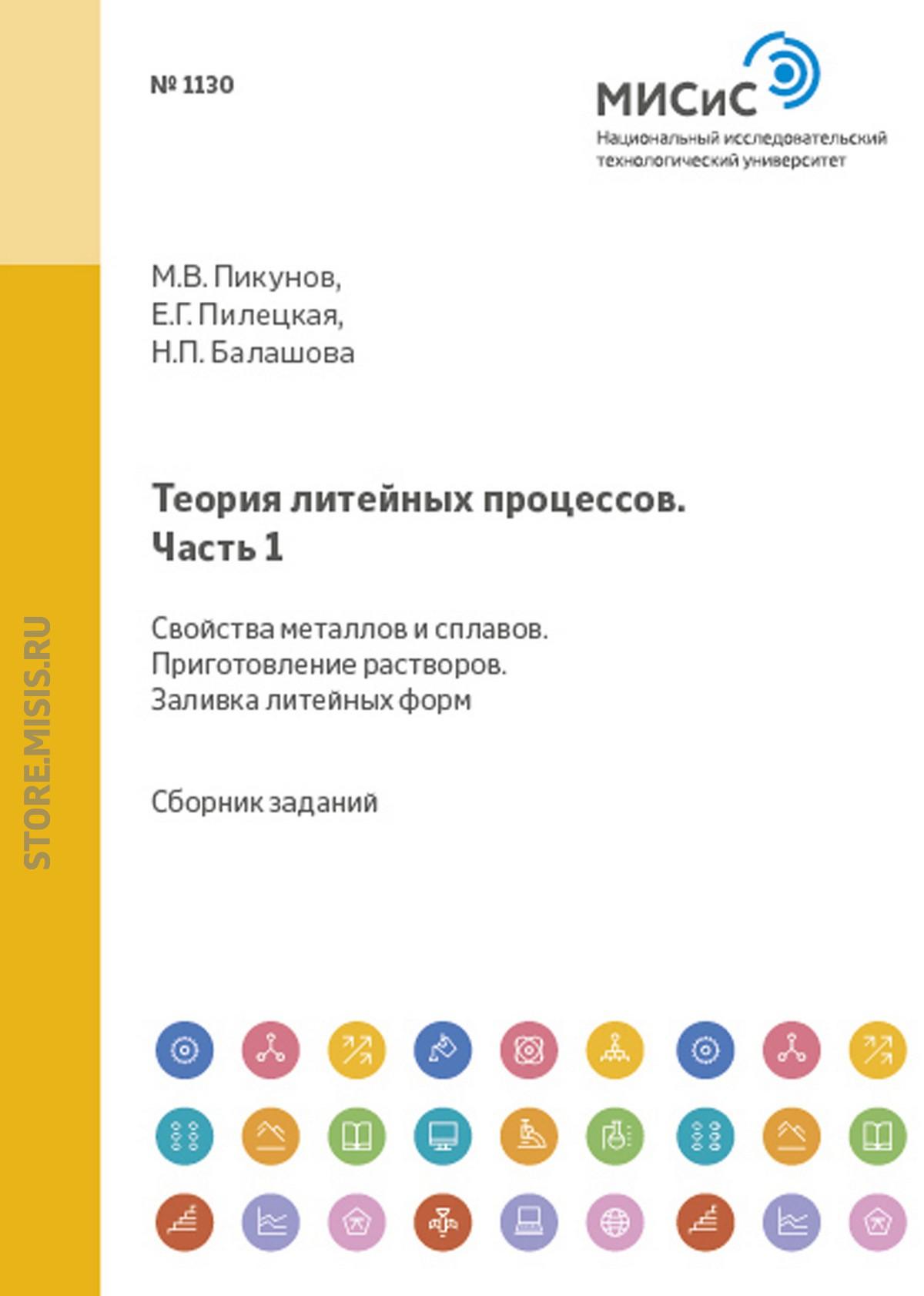 Теория литейных процессов. Часть 1. Свойства металлов и сплавов. Приготовление расплавов. Заливка литейных форм