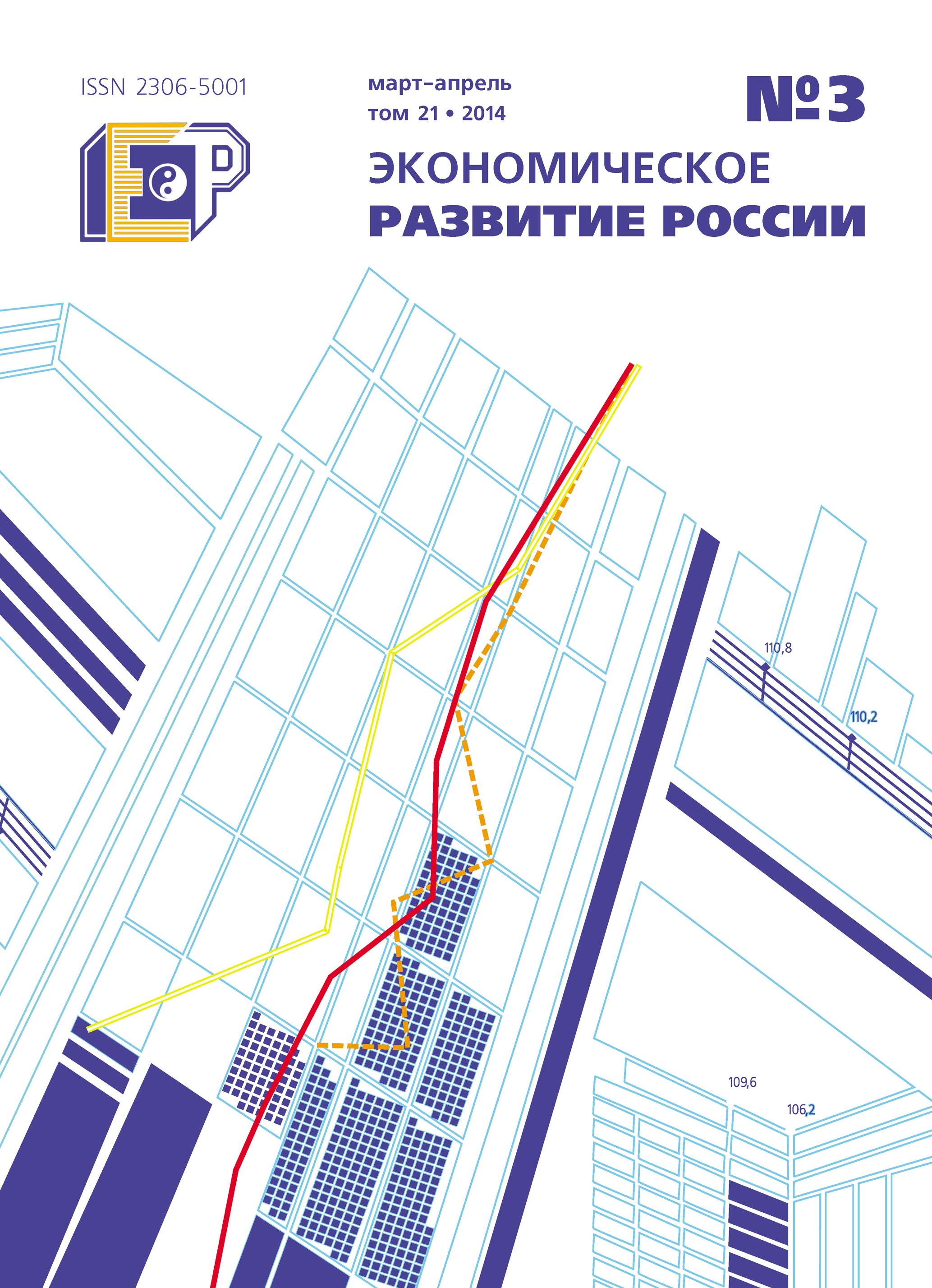 Отсутствует Экономическое развитие России № 3 2014