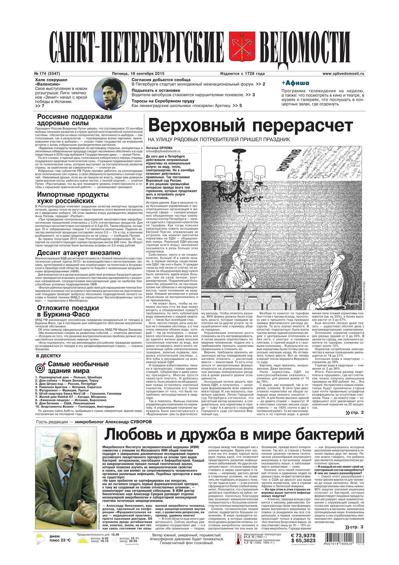 Санкт-Петербургские ведомости 174-2015