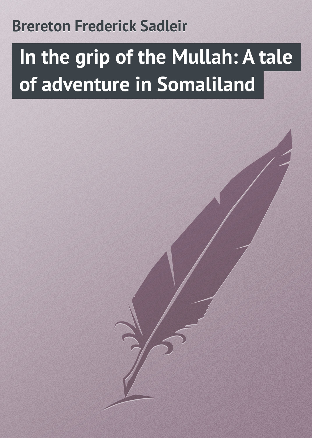 Brereton Frederick Sadleir In the grip of the Mullah: A tale of adventure in Somaliland gerstaecker frederick wild sports in the far west