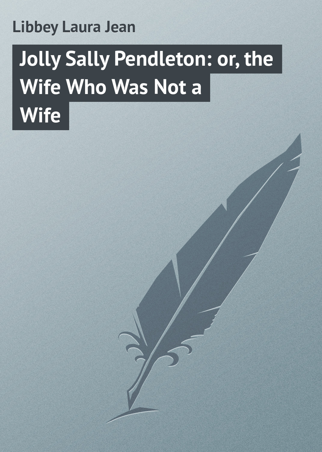 Libbey Laura Jean Jolly Sally Pendleton: or, the Wife Who Was Not a Wife все цены