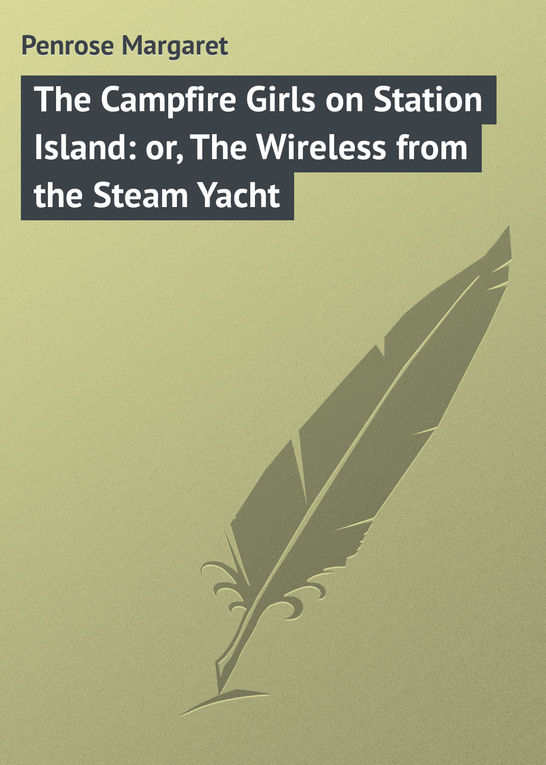 Penrose Margaret The Campfire Girls on Station Island: or, The Wireless from the Steam Yacht the floating island