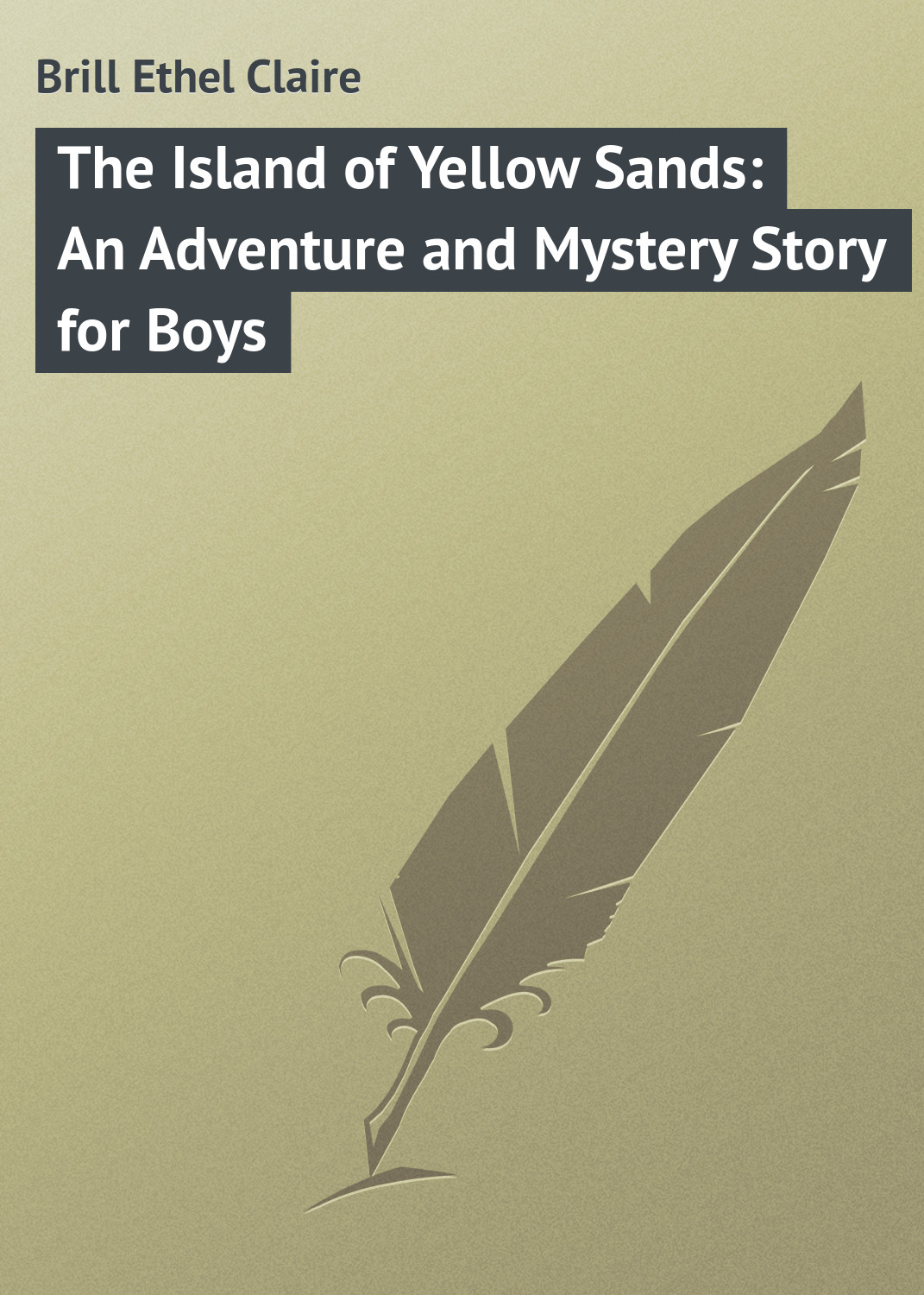 Brill Ethel Claire The Island of Yellow Sands: An Adventure and Mystery Story for Boys hardy boys 30 the wailing siren mystery