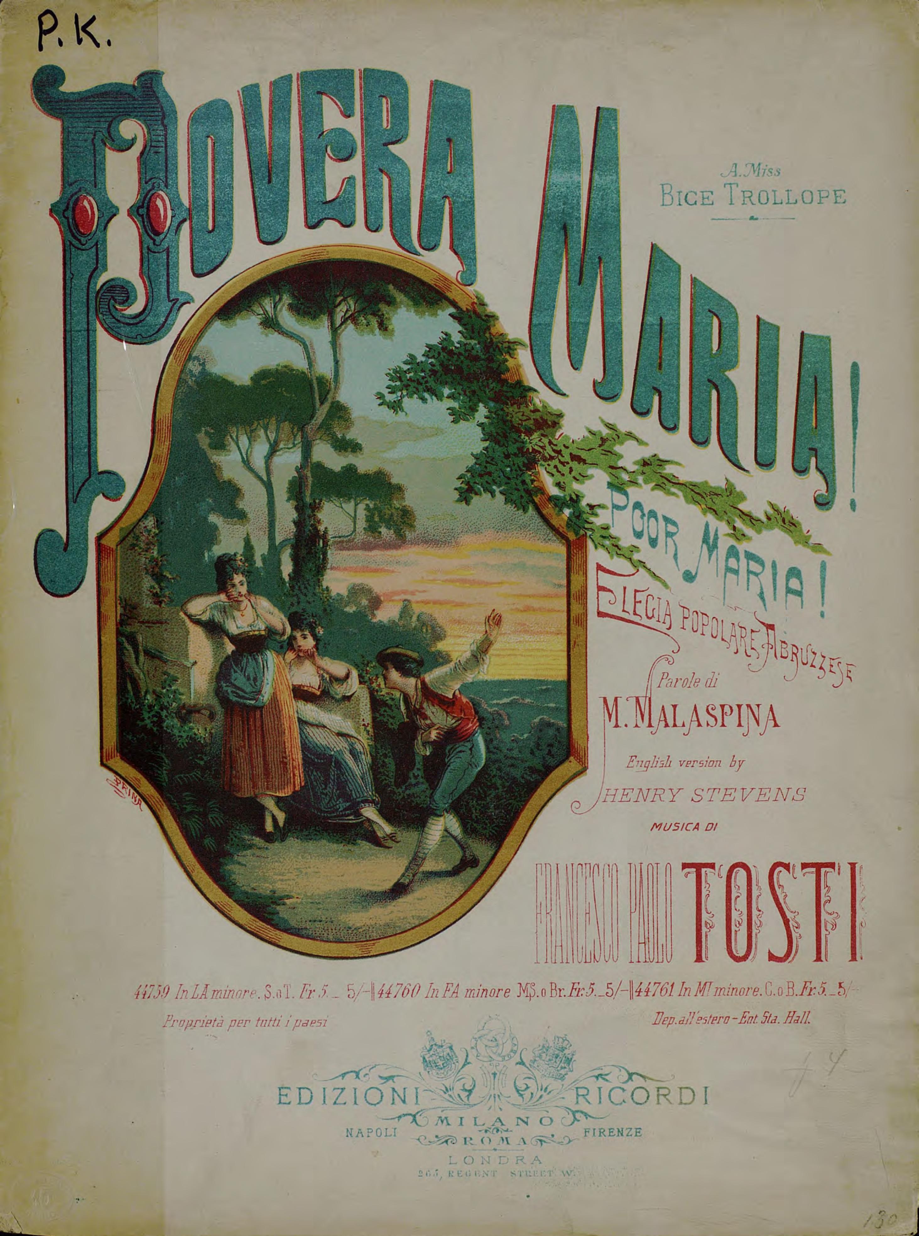 Франческо Паоло Тости Povera Maria!