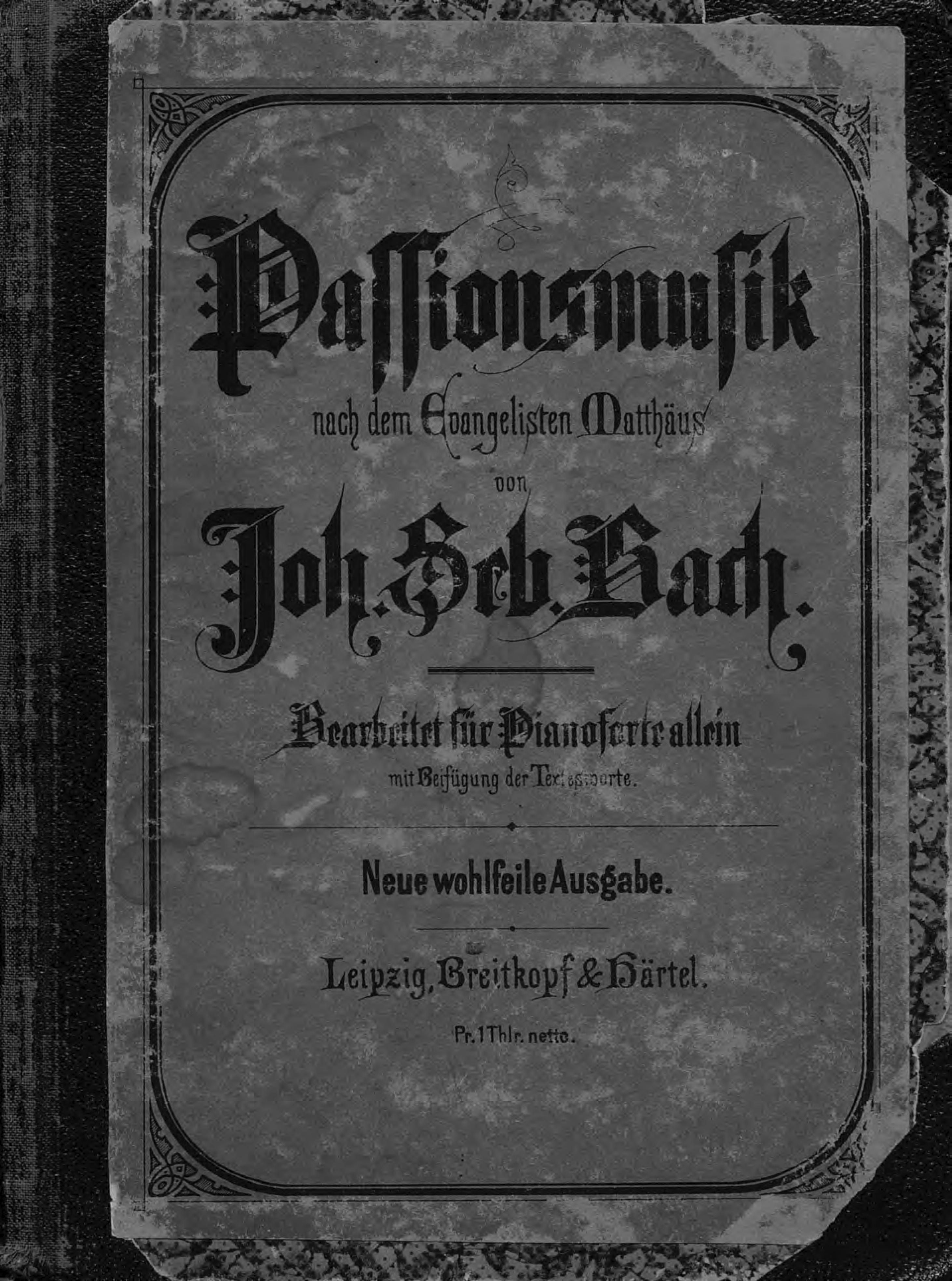 Иоганн Себастьян Бах Passionsmusik nach dem Evangeliften Mattfaus von J. S. Bach цены онлайн
