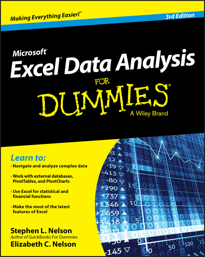 E. C. Nelson Excel Data Analysis For Dummies alan anderson statistics for big data for dummies