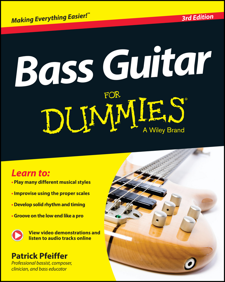 Patrick Pfeiffer Bass Guitar For Dummies dimarzio acoustic model for acoustic guitar and bass black
