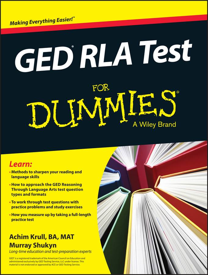 Murray Shukyn GED RLA For Dummies crash test dummies crash test dummies oooh la la