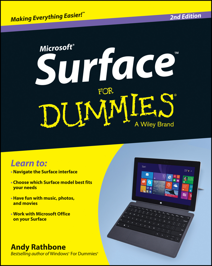 Andy Rathbone Surface For Dummies andy rathbone windows 10 for dummies