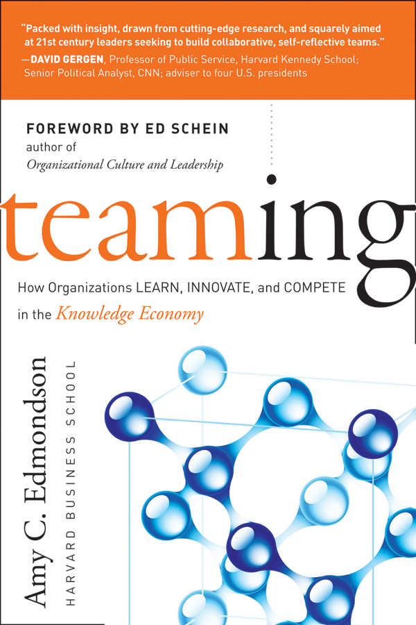 Amy Edmondson C. Teaming. How Organizations Learn, Innovate, and Compete in the Knowledge Economy dynamic analysis and failure modes of simple structures