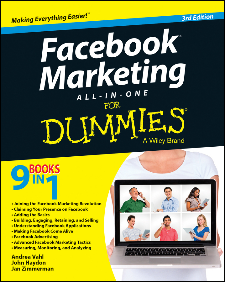 Jan Zimmerman Facebook Marketing All-in-One For Dummies john arnold web marketing all in one for dummies