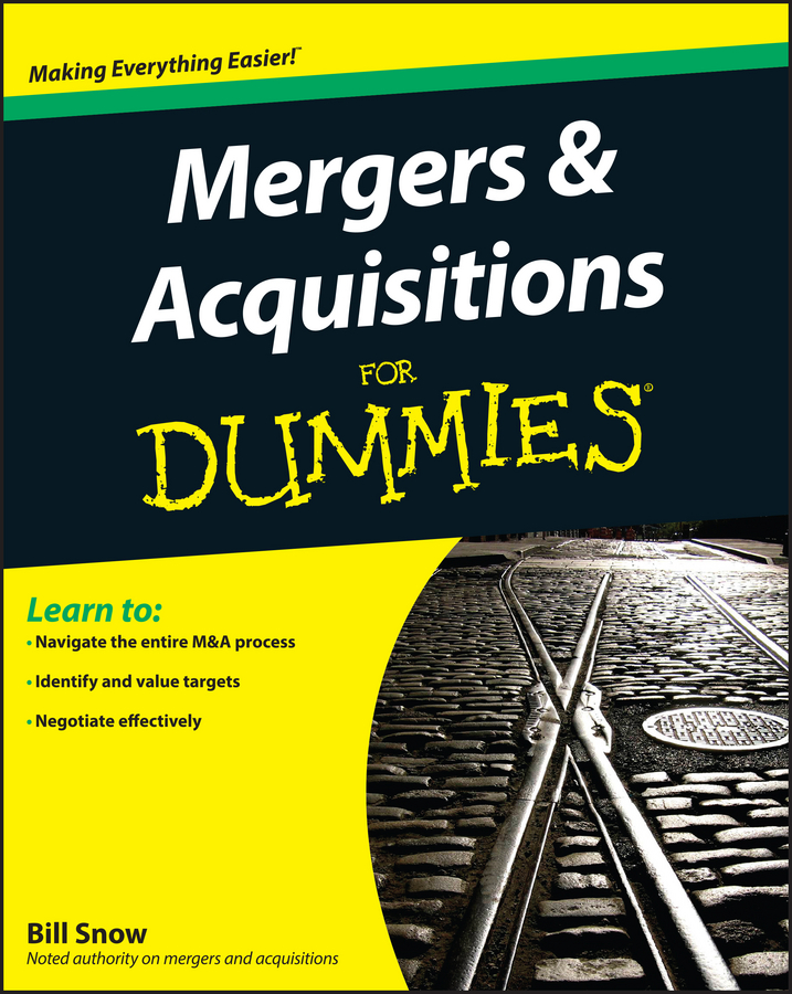 Bill Snow Mergers and Acquisitions For Dummies china s mergers