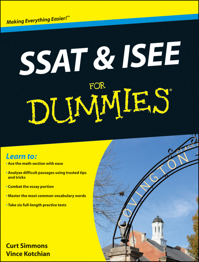 Curt Simmons SSAT and ISEE For Dummies crash test dummies crash test dummies oooh la la