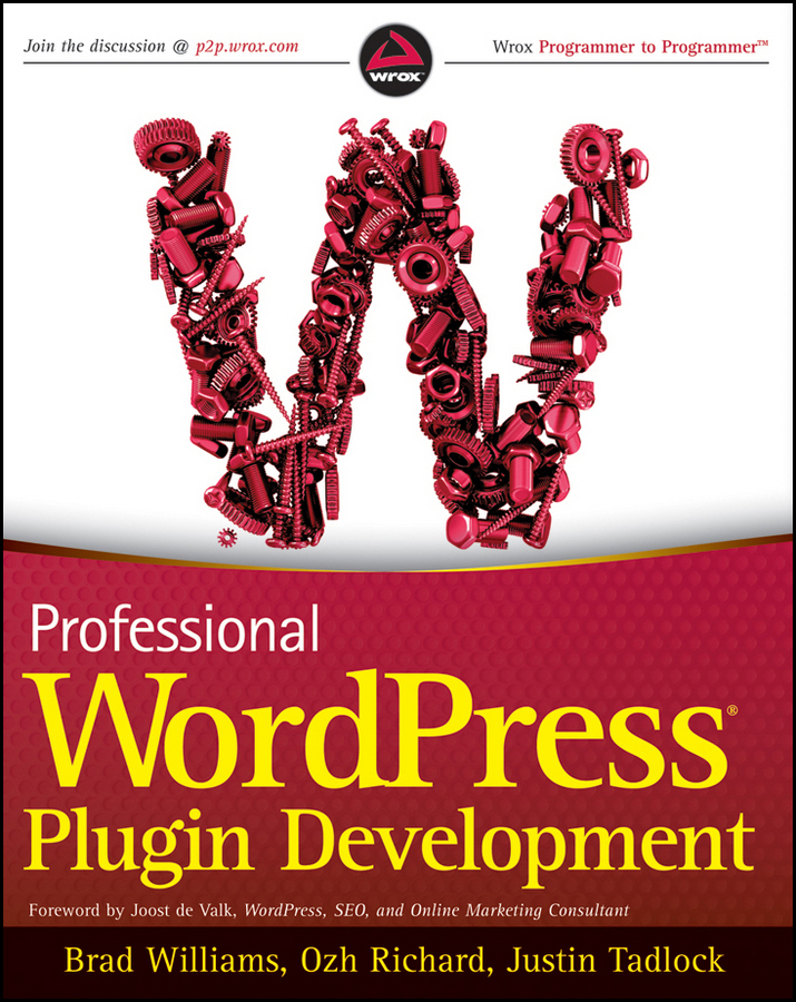 Brad Williams Professional WordPress Plugin Development wordpress for dummies