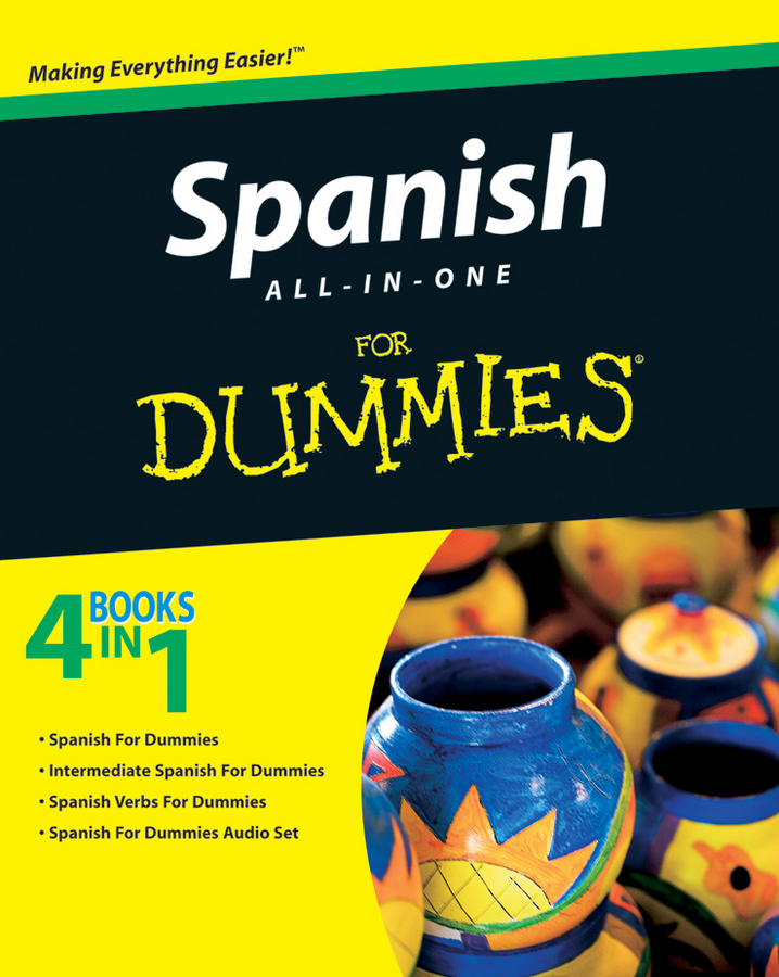 Consumer Dummies Spanish All-in-One For Dummies collins spanish in one click book with cd