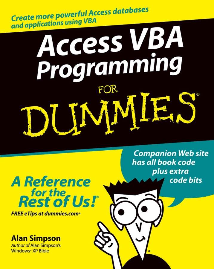 Alan Simpson Access VBA Programming For Dummies john walkenbach excel vba programming for dummies