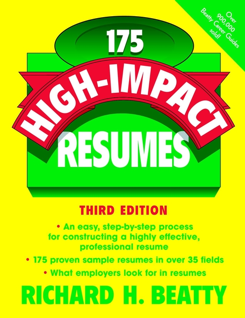 Richard Beatty H. 175 High-Impact Resumes richard beatty h 175 high impact cover letters