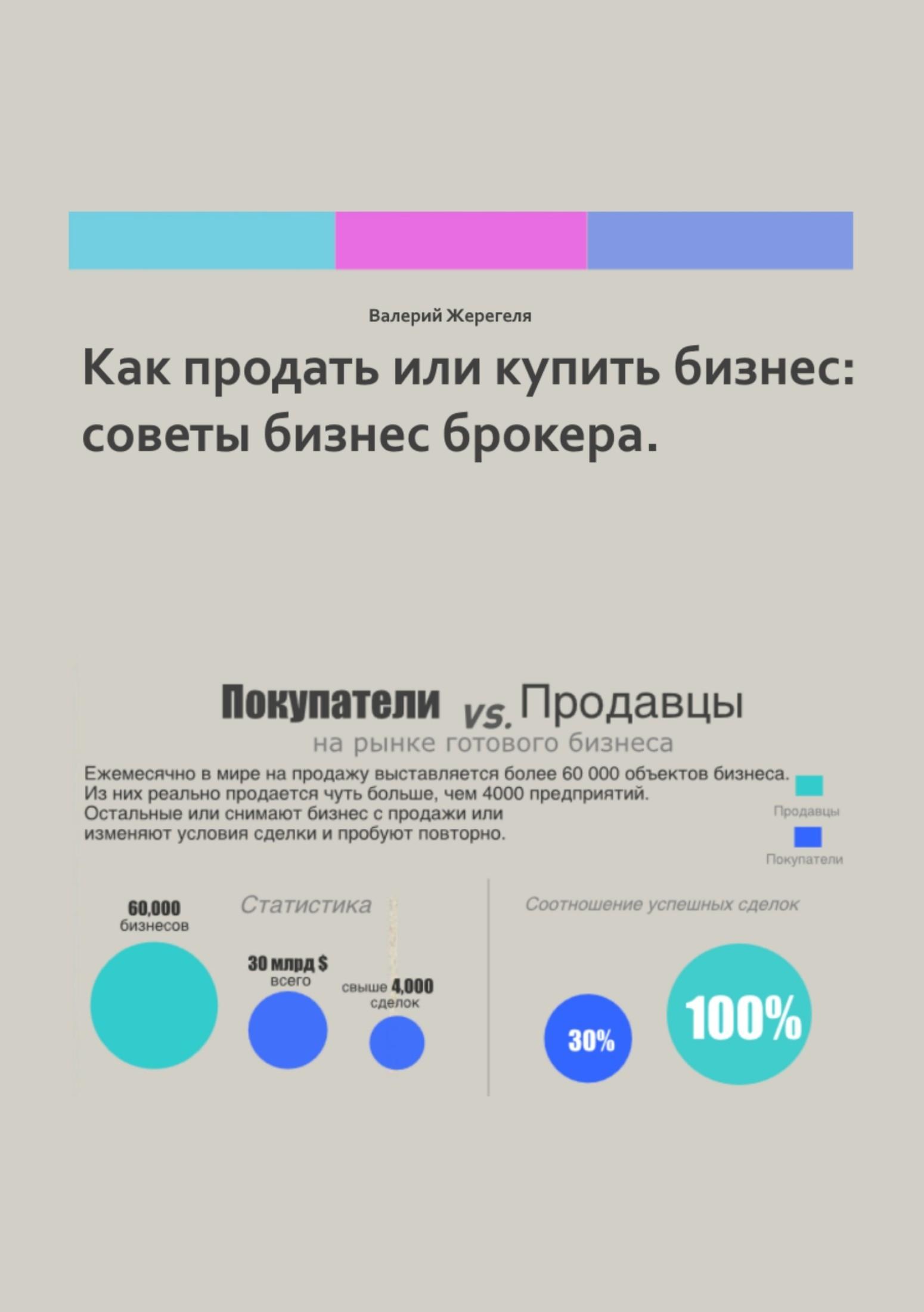 Валерий Александрович Жерегеля Как или бизнес: советы бизнес брокера
