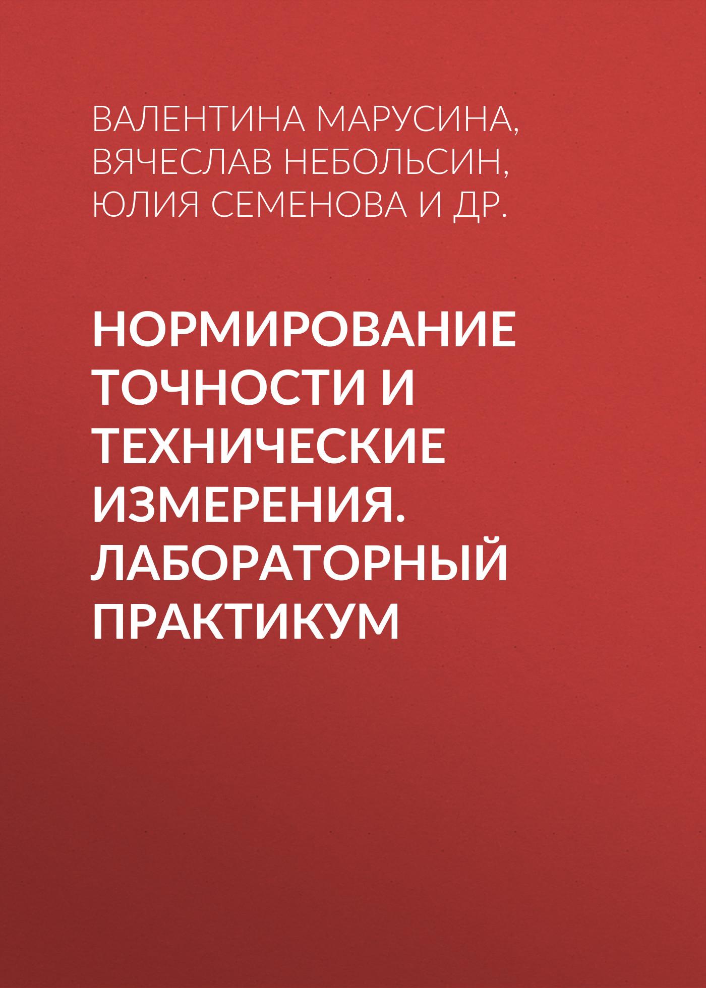 купить Вячеслав Небольсин Нормирование точности и технические измерения. Лабораторный практикум недорого