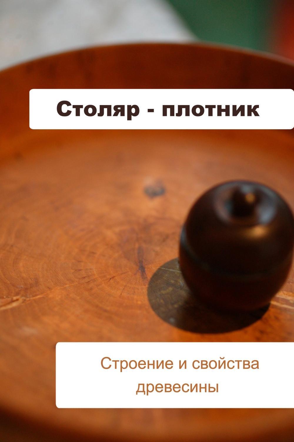 Илья Мельников Столяр-плотник. Строение и свойства древесины столяр плотник