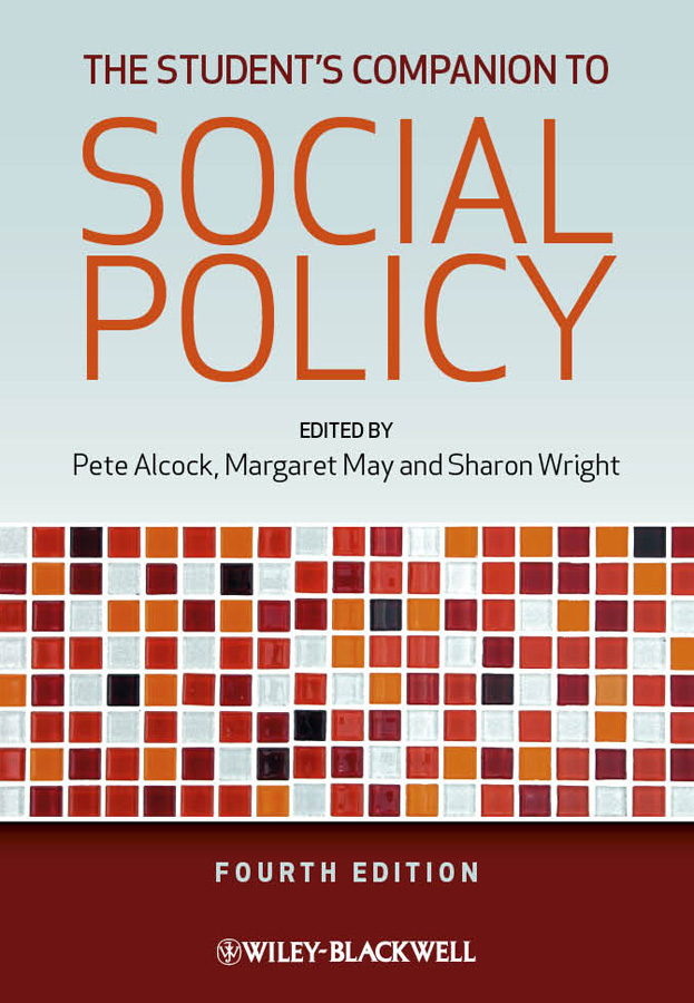 Pete Alcock The Student's Companion to Social Policy social policy simplified