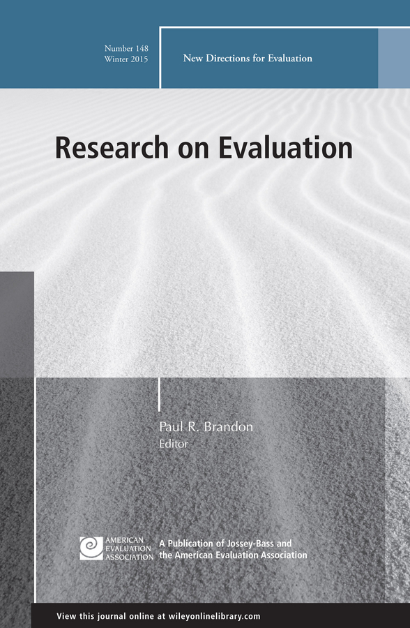 Paul Brandon R. Research on Evaluation. New Directions for Evaluation, Number 148
