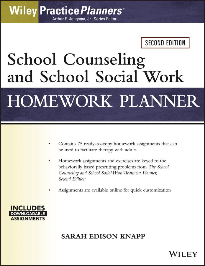 Sarah Edison Knapp School Counseling and Social Work Homework Planner (W/ Download) недорго, оригинальная цена