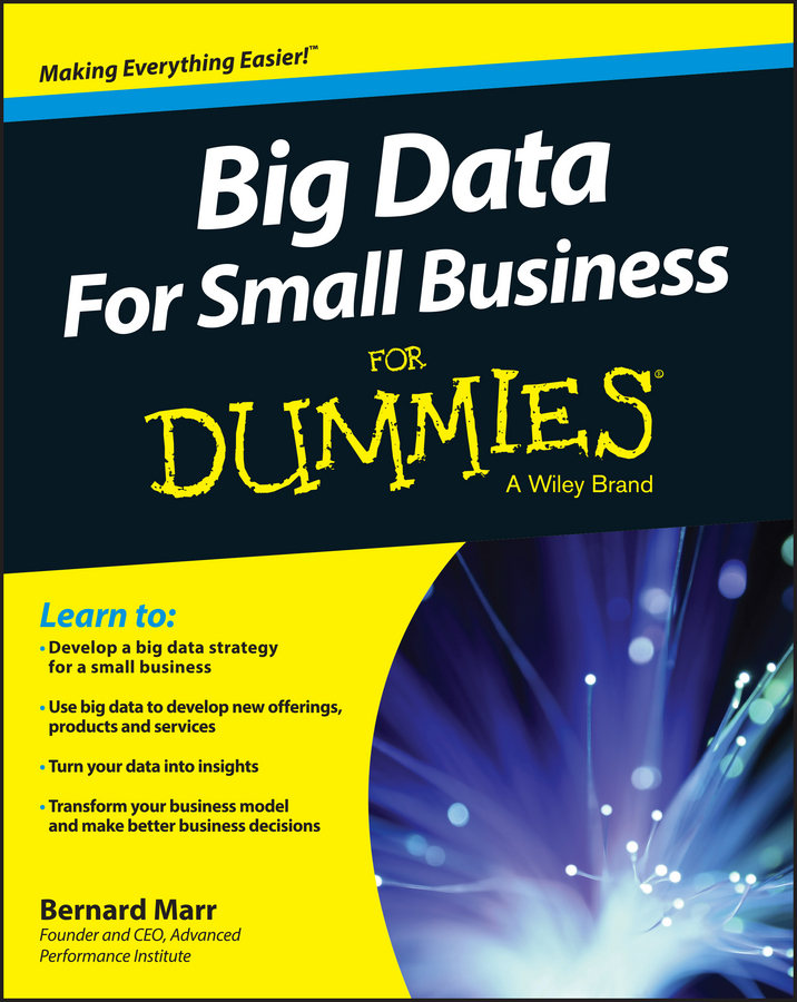 Bernard Marr Big Data For Small Business For Dummies bill schmarzo big data mba driving business strategies with data science