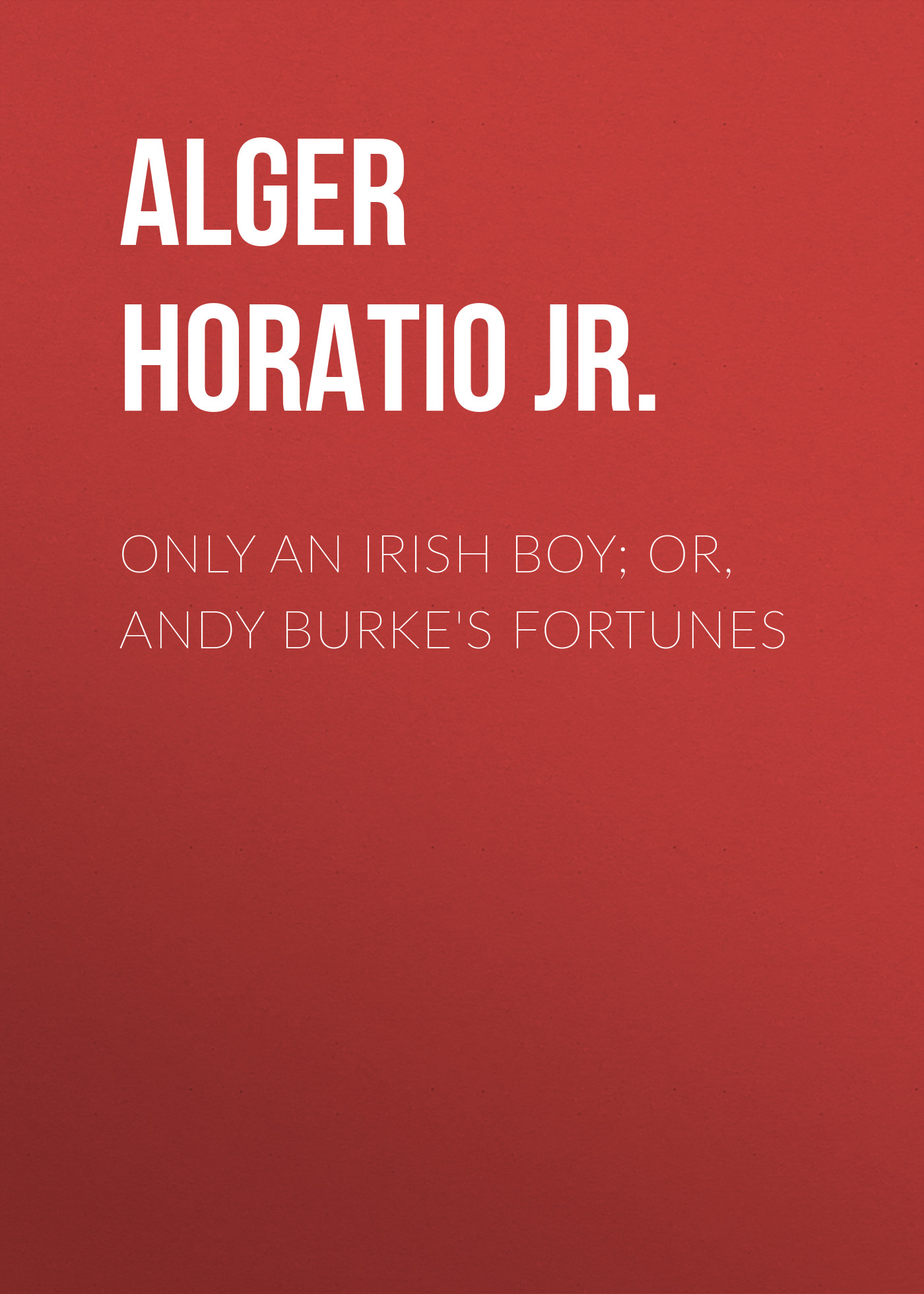 Alger Horatio Jr. Only an Irish Boy; Or, Andy Burke's Fortunes цена 2017