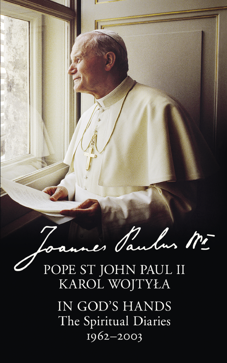 Литагент HarperCollins USD In God's Hands: The Spiritual Diaries of Pope St John Paul II the wisdom of john paul ii