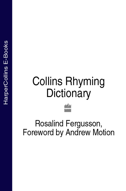 Rosalind Fergusson Collins Rhyming Dictionary collins italian dictionary
