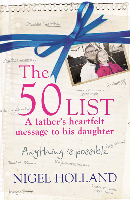 Nigel Holland The 50 List – A Father's Heartfelt Message to his Daughter: Anything Is Possible