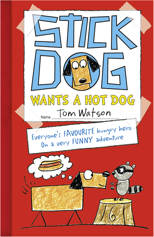 Tom Watson Stick Dog Wants a Hot Dog chip wants a dog