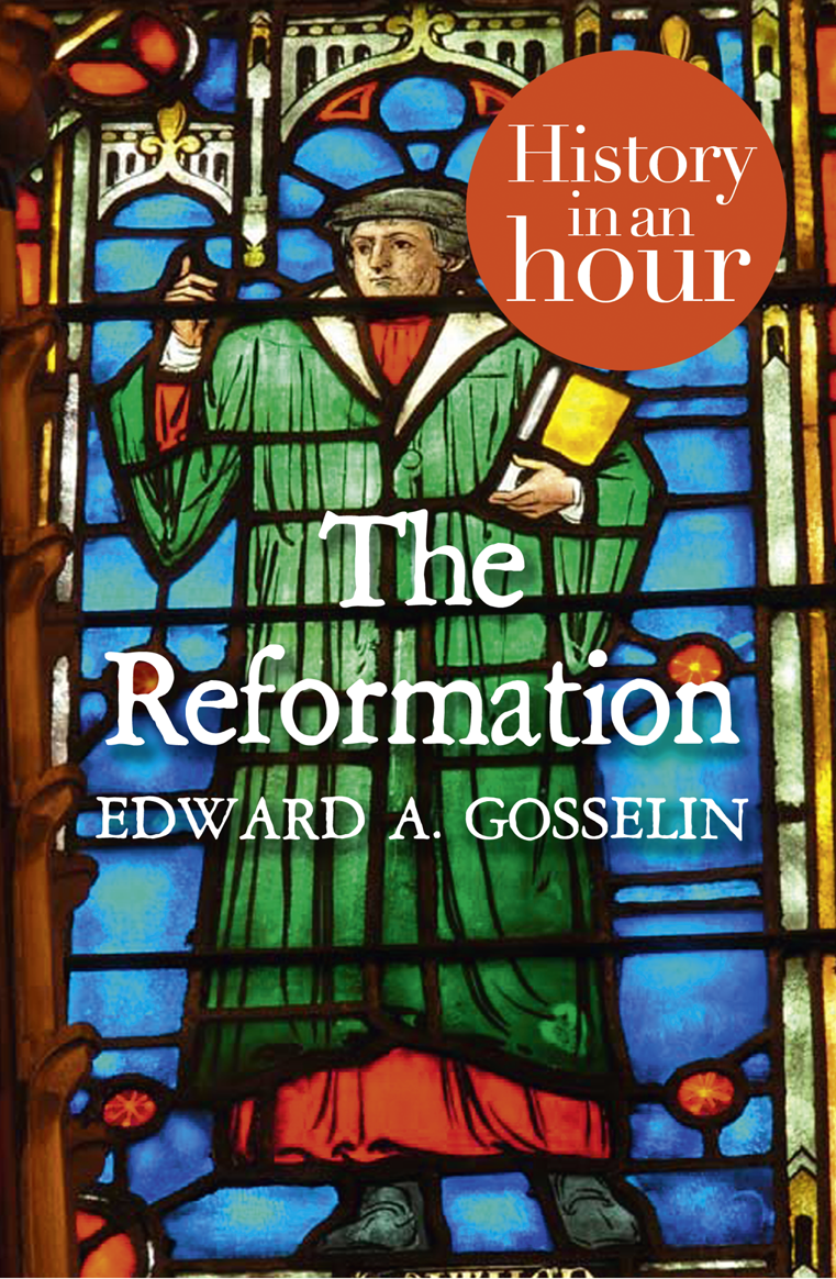 Edward Gosselin A The Reformation: History in an Hour david booth display advertising an hour a day