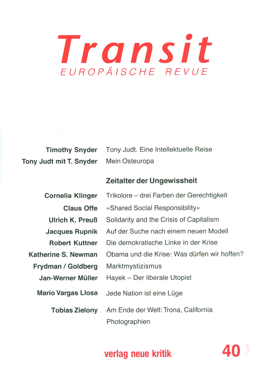 Timothy Snyder Transit 40. Europäische Revue timothy snyder stalin i europa 1928 1953