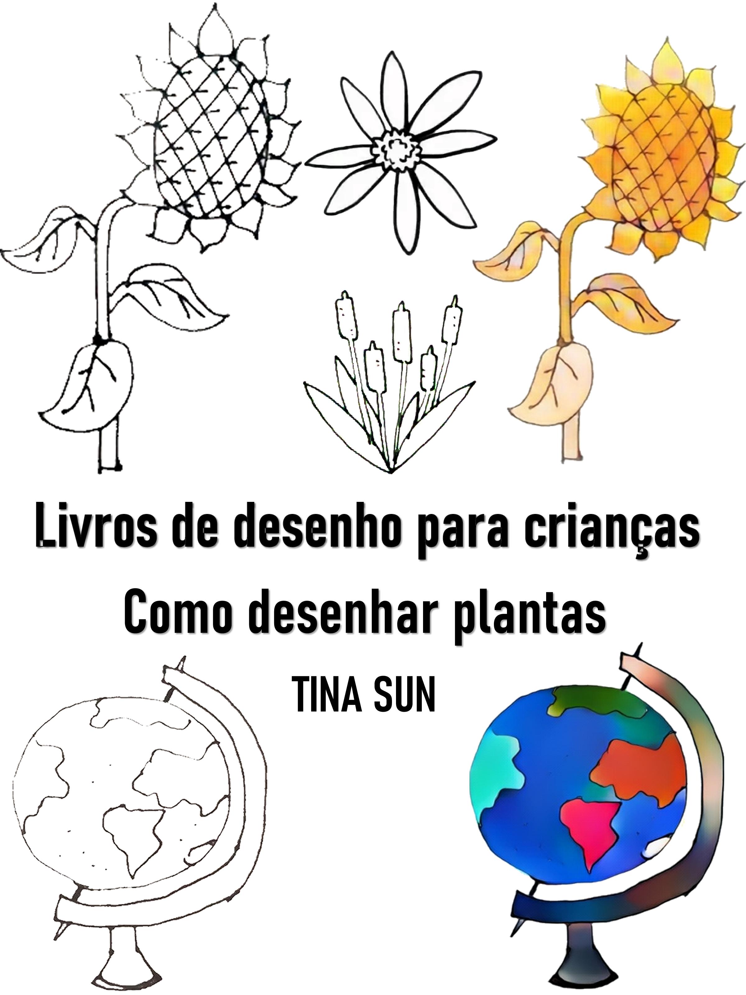 Tina Sun Livros de desenho para crianças:Como desenhar plantas e lambert 12 etudes pour cor chromatique