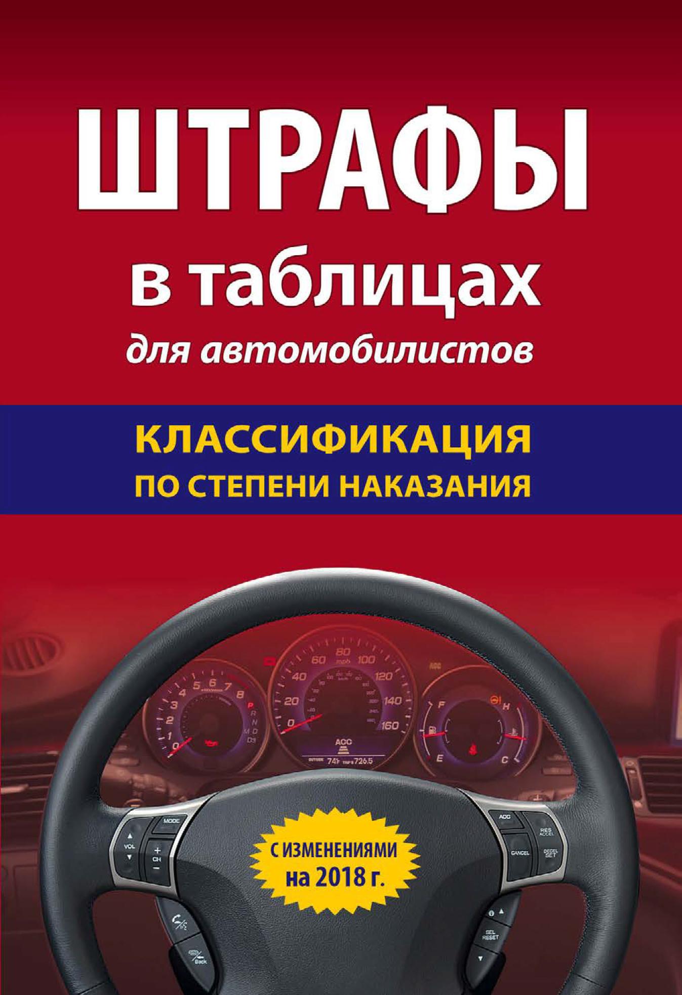 Отсутствует Штрафы в таблицах для автомобилистов с изменениями на 2018 год. Классификация по степени наказания