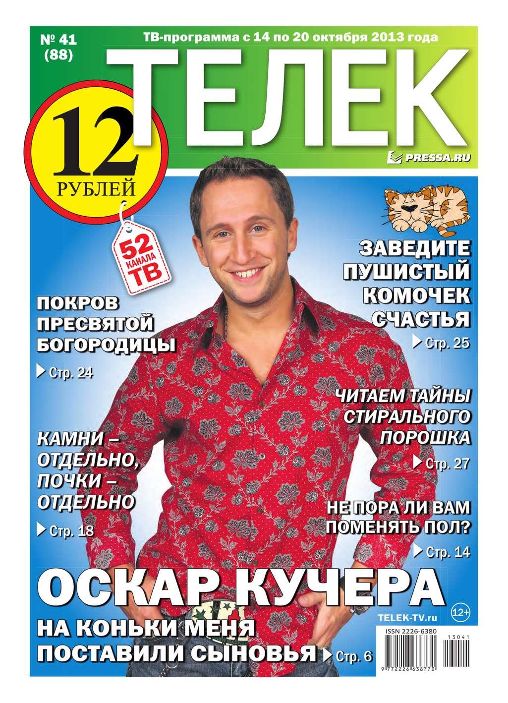 Редакция газеты ТЕЛЕК PRESSA.RU Телек 41-2013 газеты
