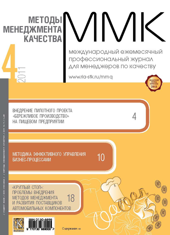 Отсутствует Методы менеджмента качества № 4 2011