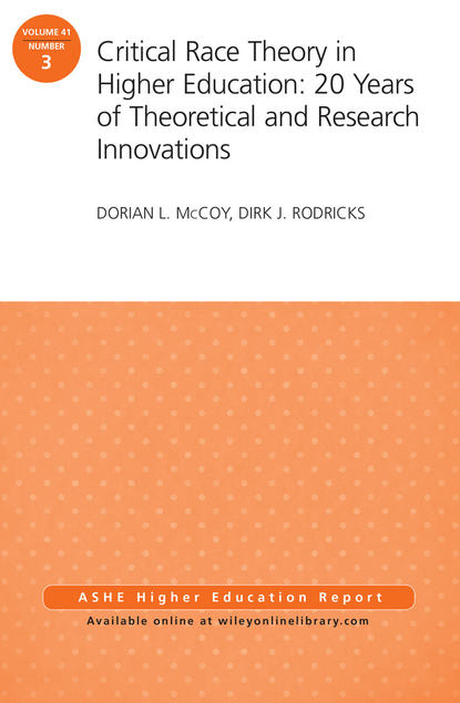 Dirk Rodricks J. Critical Race Theory in Higher Education: 20 Years of Theoretical and Research Innovations. ASHE Higher Education Report, Volume 41, Number 3 individual experiences with montessori and traditional education