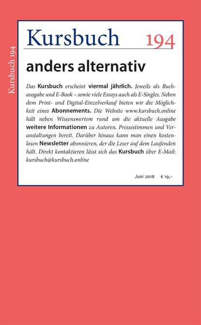 Группа авторов Kursbuch 194