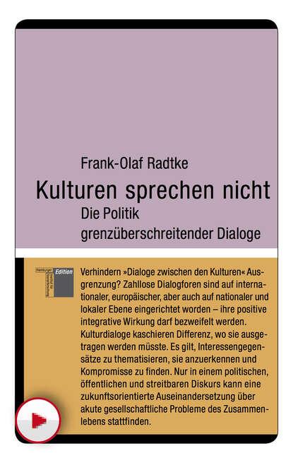 Frank-Olaf Radtke Kulturen sprechen nicht gebhard deissler welt kulturen management