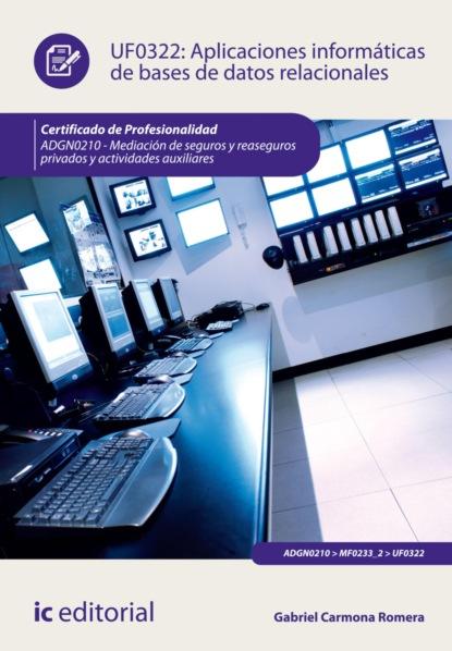 Фото - Gabriel Carmona Romera Aplicaciones informáticas de bases de datos relacionales. ADGN0210 antonio luís cardador cabello desarrollo de aplicaciones web distribuidas ifcd0210