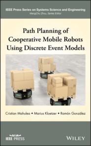 Path Planning of Cooperative Mobile Robots Using Discrete Event Models