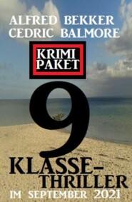 9 Klasse-Thriller im September 2021: Krimi Paket