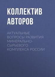 Актуальные вопросы развития минерально-сырьевого комплекса России