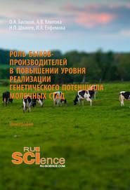 Роль быков-производителей в повышении уровня реализации генетического потенциала молочных стад