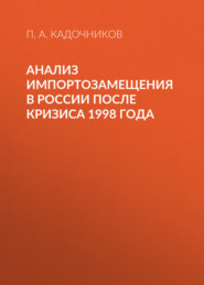 Анализ импортозамещения в России после кризиса 1998 года